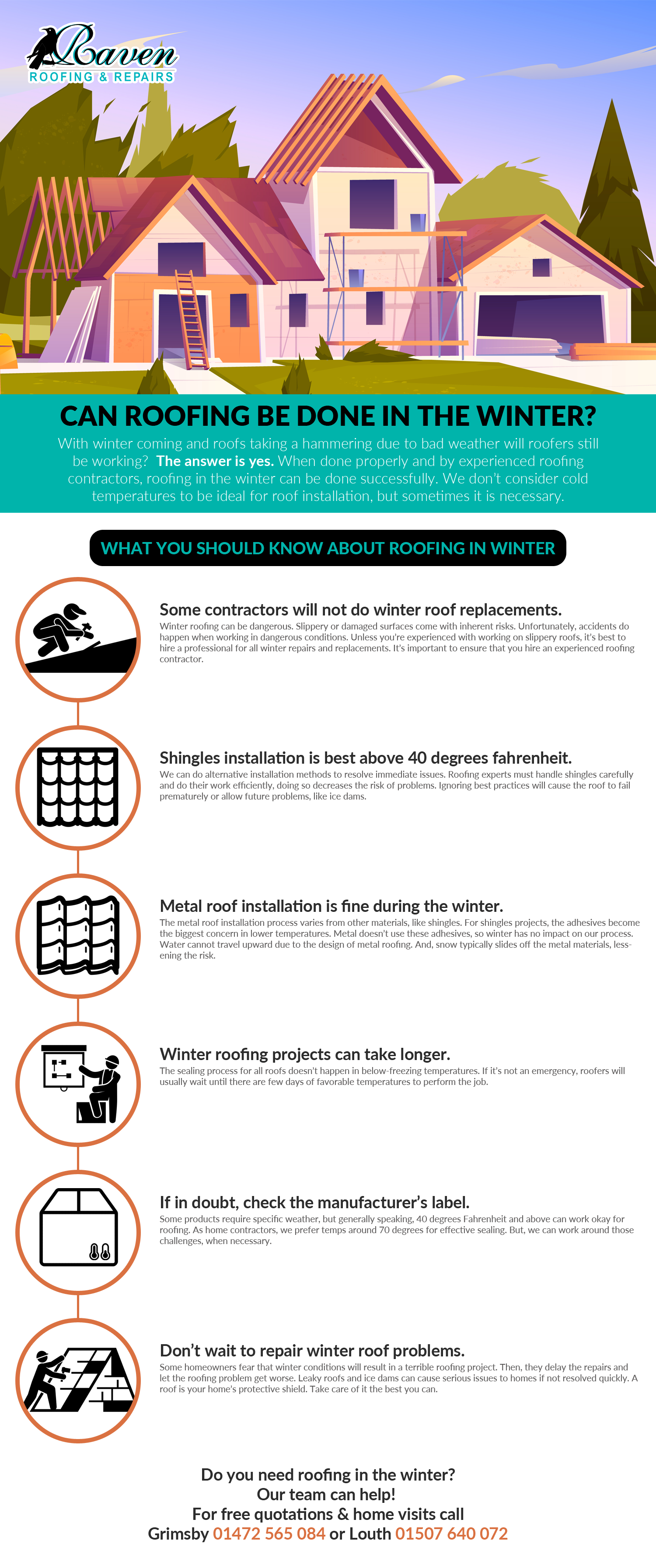 Can roofing be done in the winter [infographic]